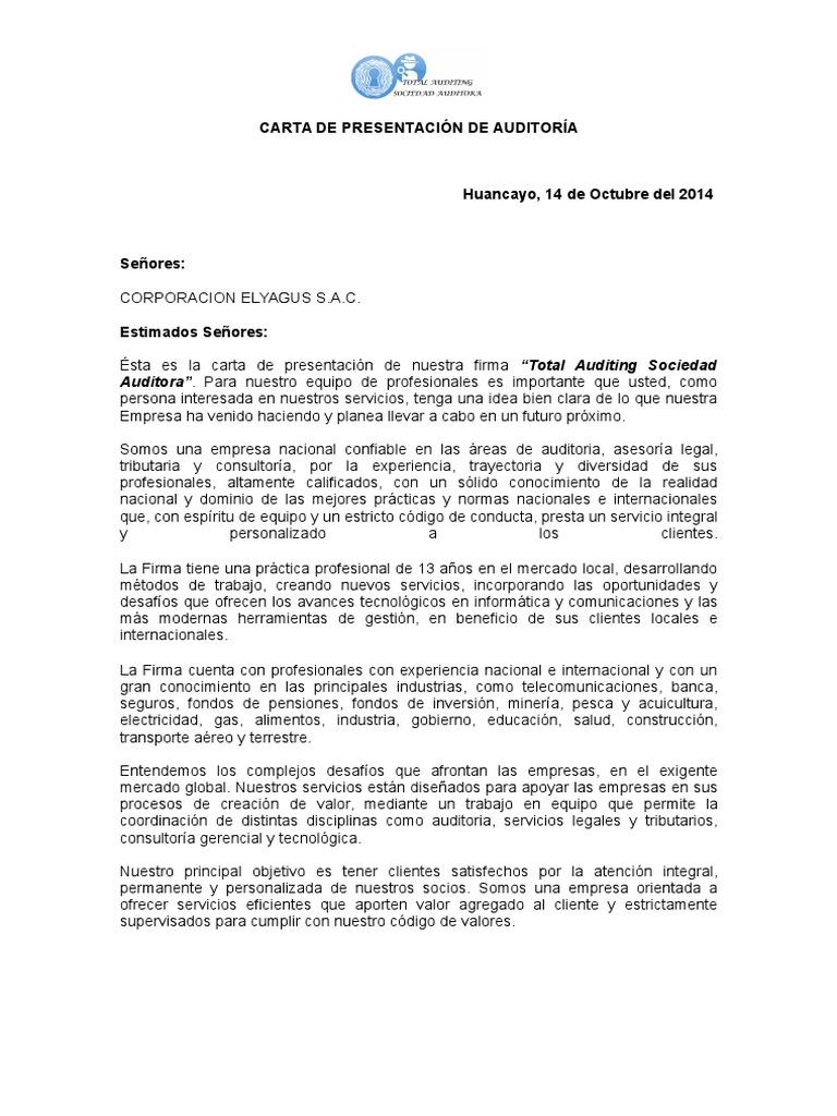 Único Ejemplo De Plantilla De Carta De Presentación Elaboración ...