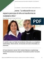 """Humberto Maturana_ """"La Educación Es Un Espacio Para Que El Niño Se Transforme en Ciudadano Ético"""" « Diario y Radio Uchile"""