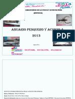 Anuario Pesquero y Acuicola de Nicaragua 2013