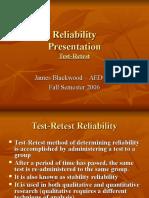 Reliability Validity Blackwood