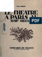 Le Théatre a Paris Au XVIII