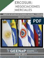 Informe Mercosur y Nuevas Negociaciones Comerciales