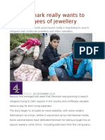 Yes, Denmark Really Wants to Strip Refugees of Jewellery