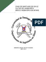Memoria Anual Departamento Ingenieria en Minas - 2014 0