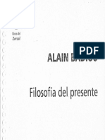 Filosofía Del Presente (pdf) - Alain Badiou