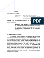 Recurso de Apelacion Denegatoria Prision