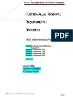 Functional and Technical Requirements Template