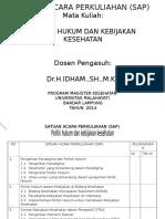 SAP Politik Hukum Dan Kebijakan Kesehatan