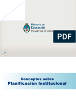 Planificacion Institucional