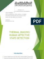 Thermal Imaging Human Affective State Detection slide