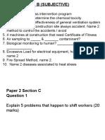Exam NIOSH Paper 2