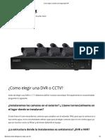 Como Elegir Un Sistema de Seguridad DVR