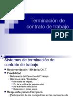Terminacion de Contrato de Trabajo Actualizado Ley 2011005