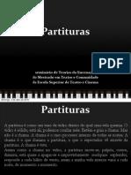 Partituras apresentação