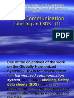 8. GHS Hazard Comm Labeling & SDS - 1