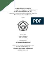 Al-quran Dan Al-hadis Sebagai Kajian Msd