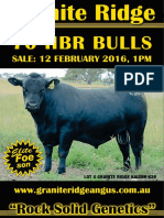 Granite Ridge Angus 2016 Bull Sale Catalogue