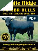 Granite Ridge Angus 2016 Bull Sale Catalogue