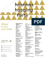 Christmas 2015 Shopping Party Ticket