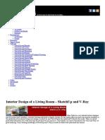 Interior Design of a Living Room – SketchUp and v-Ray __ SketchUp 3D Rendering Tutorials by SketchUpArtists