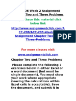 ACC 206 Week 2 Assignment Chapter Two and Three Problems