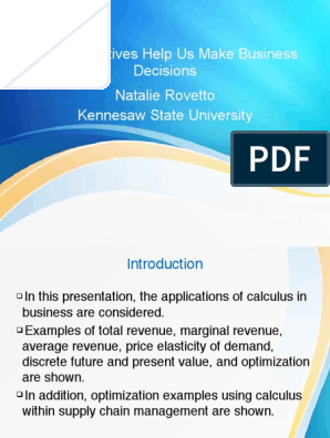 Applications Of Derivatives 10 Pdf Price Elasticity Of Demand
