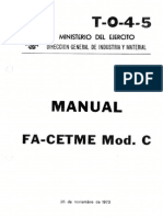 T-0-4-5 CETME Mod.C, Manual de mantenimiento y uso