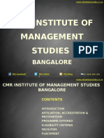 CMR Institute of Management Studies Bangalore