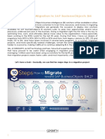 Optimize Your Migration to SAP BusinessObjects BI4