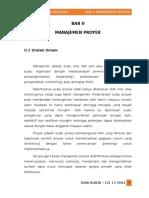 Bab II Manajemen Proyek