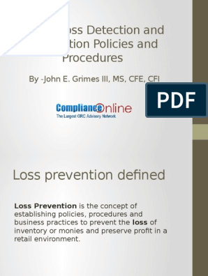 Retail Loss Detection And Prevention Policies And Procedures Retail Service Industries