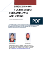 Single SignOn With CA SiteMinder for Sample Web Application