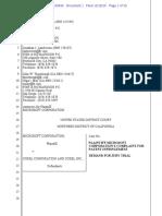 Microsoft v. Corel - Complaint