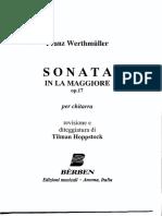 Franz Werthmuller - Sonata in a Major