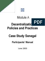 Decentralization in Senegal