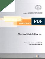 Informe CGR 1123/2015 Fiscalización I . Municipalidad de LLay-LLay