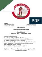 Godd Shepherd ANCC Bulletin 12/20.2015