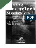Teoria Financiera Moderna Fundamentos y Metodo - J. Rigoberto Parada Daza