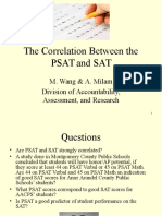 The Correlation Between the PSAT and SAT
