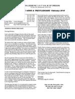 Boletín  UNION LODGE NO. 3, A. F. & A. M. OF OREGON