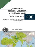 Post-Islamist Religious Secularism