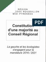 Majorité conseil régional