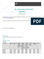 Asphalt Industry Award Ma000054 Pay Guide
