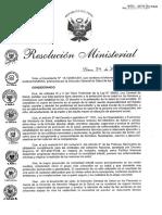 R.M. Nº 997-2014-MINSA Plan Bienvenidos a La Vida