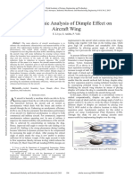 Aerodynamic Analysis of Dimple Effect on Aircraft Wing