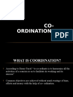 Co Ordination