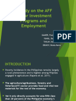 A Study on the AFF Sector Investment Programs