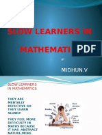 Slow Learners in Mathematics