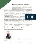 Yoga si beneficiile sale pentru sanatate.