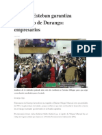 16.12.15 Esteban Garantiza Desarrollo de Durango- Empresarios